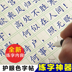 【19天练好字】魔幻凹槽练字帖 成人楷书行书钢笔硬笔凹槽练字板 魔幻练字贴 楷书版