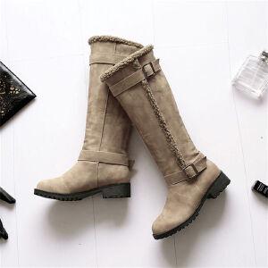 O'SHELL欧希尔新品038-6003舒适低跟女士长靴