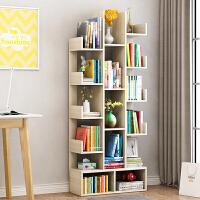 老睢坊 简易书架落地简约现代客厅置物架子创意小学生树形经济型收纳书柜