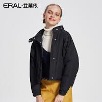 ERAL/艾莱依2017冬季新款蝙蝠袖轻薄羽绒服女短款外套12078-FDAA