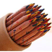 马可6403彩色铅笔 创意 原木彩虹铅笔 DIY日记制作 儿童涂鸦铅笔6 支价格