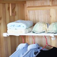 百露橱柜置物架 多层架不锈钢伸缩架创意浴室收纳架衣柜整理架