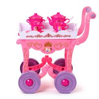 【当当自营】迪士尼 过家家玩具 公主茶具餐车SWL-904 (女孩过家家游戏玩具餐车厨房餐具)