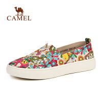 新品 CAMEL骆驼户外女款休闲徒步鞋 透气耐磨女休闲单鞋