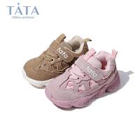 Tata他她童鞋儿童运动鞋秋季新品婴幼童软底轻便运动鞋透气男童老爹鞋宝宝鞋子