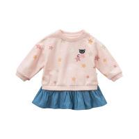 戴维贝拉秋季新款女童连衣裙 宝宝卡通裙式上衣DBM9854