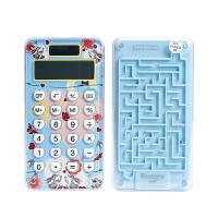 晨光标朗 太阳能迷你计算器学生用电池8位女生可爱时尚韩国粉色小号儿童便携型多功能个性创意带滚珠迷宫游