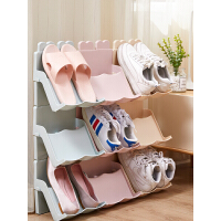 老睢坊 多层可叠加鞋架简易门口家用塑料鞋托宿舍收纳鞋架分层整理小鞋柜