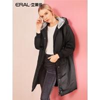 ERAL/艾莱依2018冬季新款女士羽绒服中长款加厚毛球外套617104129