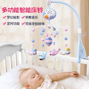曼哈顿牙胶磨牙棒手摇铃0-3-6-12月宝宝啃咬手抓球可水煮玩具