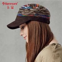 kenmont鸭舌帽女 韩版 潮帽子女 自然休闲秋季款女士帽子平顶军帽2284