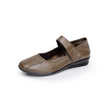 中老年人春秋单鞋妈妈鞋软底老人鞋圆头小码33平底女奶奶鞋34