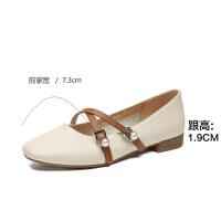 2019珂卡芙新款【淑女风】网红简约女鞋平底舒适耐磨女单鞋