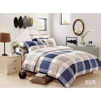 英缦羊绒棉床品舒适柔软双人四件套 被套床单枕套