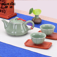 冰裂梅花壶陶瓷功夫茶具茶壶开片大号汝瓷可养小单壶