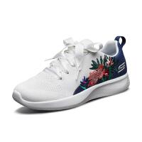 【*注意鞋码对应内长】Skechers斯凯奇2019春夏新品女鞋 时尚刺绣丝带网布运动鞋 32814