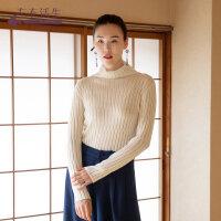 生活在左2019秋季女装新品高领套头显瘦针织毛衣百搭舒适打底衫