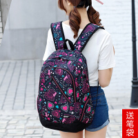 女士大容量帆布电脑包背包旅行双肩包男士韩版学院风高中学生书包