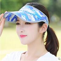韩版迷彩棒球帽 情侣户外网球帽 女空顶防晒遮阳帽时尚运动帽嘻哈帽