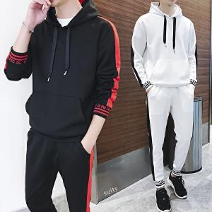 男士卫衣套装休闲套装运动服套装外套秋季新款两件套