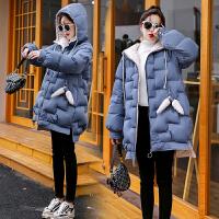 冬季外套韩版宽松中长款棉袄孕后期冬装孕妇加厚棉衣