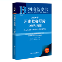 河南蓝皮书:2020年河南社会形势分析与预测(社会治理现代化)
