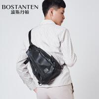 波斯丹顿胸包男时尚单肩包斜挎包大容量学生背包休闲潮牌男包B5184031
