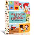 【中商原版】 饭菜怎样来? 英文原版 How Did That Get in My Lunchbox? 探索绘本 儿童
