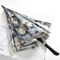 包邮 折叠创意百合花黑胶遮阳伞防晒女士太阳伞防紫外线晴雨伞