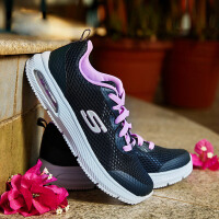 Skehers斯凯奇新款时尚气垫运动鞋青少年女款透气休闲鞋