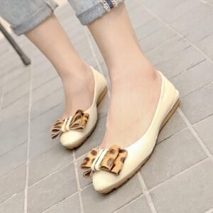 O'SHELL欧希尔新品057-1524韩版平底鞋女士豆豆鞋