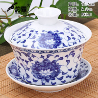 大号单个三才泡茶白瓷功夫茶具紫砂青瓷青花瓷盖碗茶杯茶碗
