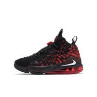 NIKE耐克女子大童LEBRON XVII (GS)篮球鞋 BQ5594-006 黑红