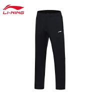 李宁卫裤男士羽毛球系列长裤子男装冬季平口梭织运动裤AKLM709