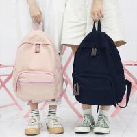女士百搭棉布背包女士韩版原宿大高中学生书包双肩包