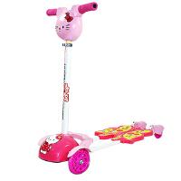 N-KID 机器猫音乐头四轮蛙式滑板车儿童卡通滑板车PU闪光轮滑板车GZ336