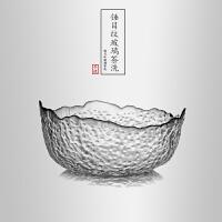 当当优品 锤目纹加厚玻璃茶洗 光阴系列 功夫茶具配件