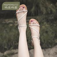 【下单只需要129元】玛菲玛图原创设计小众女鞋凉鞋女2020新款夏季女士简约细带鞋611-12