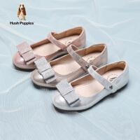 暇步士童鞋女童皮鞋2020秋季新品儿童软底公主鞋中小童蝴蝶结小单鞋