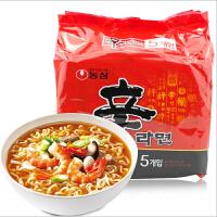韩国进口食品 农心 辛拉面(连包)120g袋*5