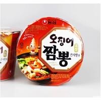 韩国进口食品 农心 鱿鱼面海鲜面大碗面115g/碗泡面速食