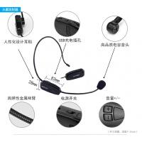 2018新款 亿米阳光2.4G无线麦克风头戴式教师扩音器演出唱歌话筒 黑色 黑色