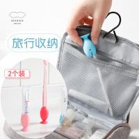 MARNA日本立式小鱼牙刷套收纳2个儿童旅行便携式牙刷头套保护套