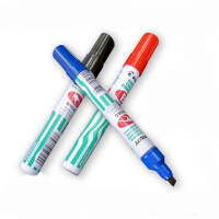 百乐 錾刀型笔头 油性笔 SCA-B 铝杆斜头 记号笔 油性笔 箱头笔