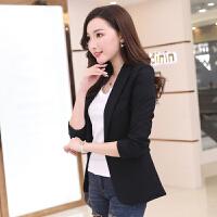 2018春季新款帅气小西装女外套韩版修身长袖黑色休闲女士西服上衣