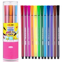 得力(deli) 7065 绚丽多彩可洗水彩笔/绘画笔 12色/筒 包装颜色随机 当当自营