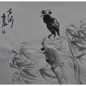 中国美术家协会理事 张立辰 《花鸟》