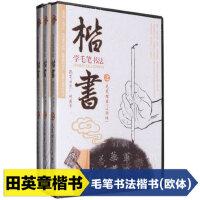田英章 学毛笔字书法楷书教学视频基础入门教程DVD光盘碟片欧体