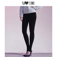 三枪打底裤女秋冬新品薄型高密面膜美体裤高腰弹力女士踩脚一体裤
