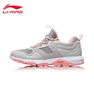 李宁跑步鞋女鞋耐磨防滑反光夜跑越野跑鞋女士低帮运动鞋ARDM032